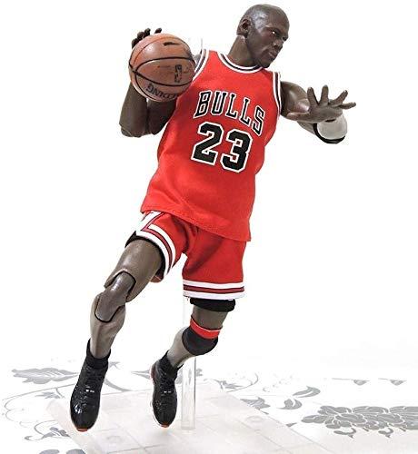 Cylficl. Figura de acción de 22 cm de la Serie NBA 23 Michael Jordan Chicago Bulls edición Limitada de colección: Figuras de la NBA