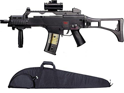 g8ds Set: HK Heckler & Koch G36 C AEG ELEKTRISCH Softair Gewehr + Hochwertige abschließbare Gewehrtasche schwarz