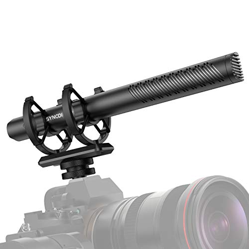SYNCO-D30-コンデンサーマイク-ガンマイク-外付けマイク ゲイン可調節 無段階ダイヤル75Hz&150Hz ハイパスフィルター 高音質 音声モニターニング カメラマイク【正規品1年保障・日本語サポート】