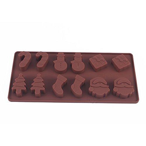 Chocolade Maker Mold, Kerstmis Sneeuwman Siliconen Cake Cookies Vorm Bakken Chocolade Ice Cube Lade DIY