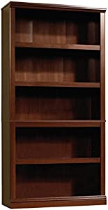 "Sauder 412835 5 Shelf Bookcase, L: 35.28"" x W: 13.23"" x H: 69.76"", Select Cherry finish"