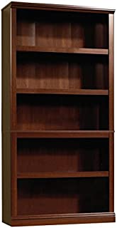 Sauder 5 Shelf Bookcase, Select Cherry finish
