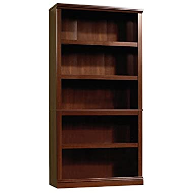 Sauder 412835 Select 5-Shelf Bookcase, Select Cherry Finish