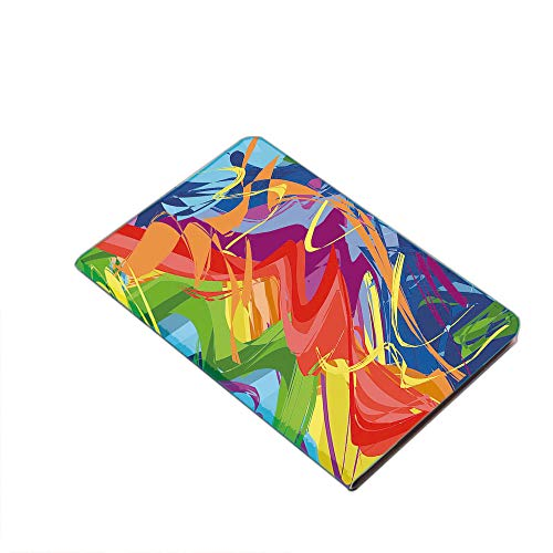 Case for iPad Air 10.5' 2019 (3rd Generation) & iPad Pro 10.5 2017,Abstract Lively Rainbow Colored Modern Art Hand Drawn Brush Marks Free Spirit Print Decorative PU Leather Business Folio Cover,with S