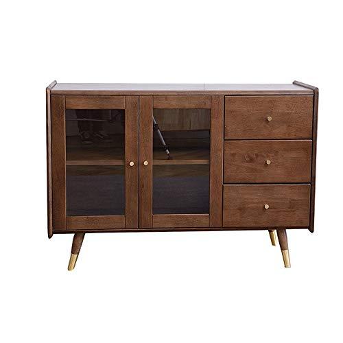 MELLRO Anrichte Schrank Küche Speiseraum Bar Eintrag Tisch Wohnzimmer Holz Buffet Lagerschrank Anrichte Wohnzimmer Entryway Tür Schlafzimmer (Color : Brown, Size : 120x40x83cm)