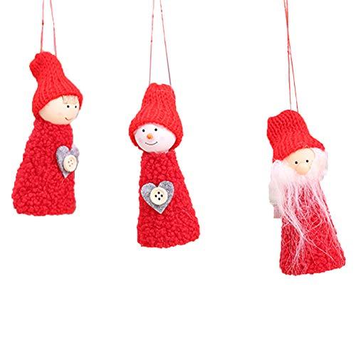 Wicemoon 3* Décoration d'arbre de Noël- Décorations de Noël Décoration Pendentif Arbre de Noël Ornement Suspendu
