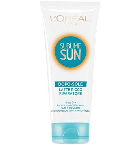 L'Oréal Paris Protezione Solare Sublime Sun, Latte Doposole Ricco Riparatore, Idrata per 48h*, 200 ml