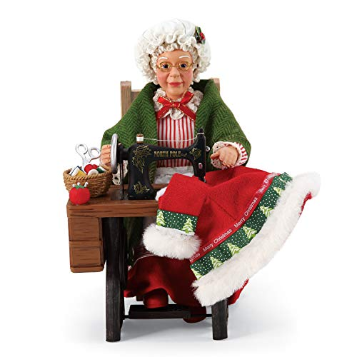 Department 56 Possible Dreams Santas Sports and Leisure Mrs. Claus Sewing Stitch Fix Figurine Set, 8.5 Inch, Multicolor