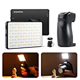 SESENPRO Waterproof Led Video Light Kit with Bluetooth Shutter Grip, 2500K-8500K Bi-Color Camera Light, Portable Handheld Photography Lamp for Video Conferencing, Filming, Live Streaming