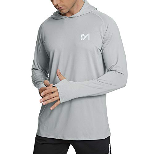 MEETYOO Hombre Camiseta Protección UV, Camisa Manga Larga UPF 50 Camisetas Deportivas Proteccion Solar para Buceo Vela Running