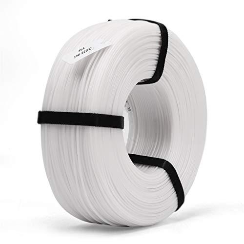 1.75 mm PLA 3D Filament with Reuseable Master Spool Plastic PLA 3D Printer Materials 3D Printing Filament Refill (Color : PLA Refill White)
