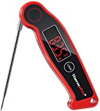 ThermoPro TP19 Waterproof Digital Meat Thermometer for Grilling with Ambidextrous Backlit &...