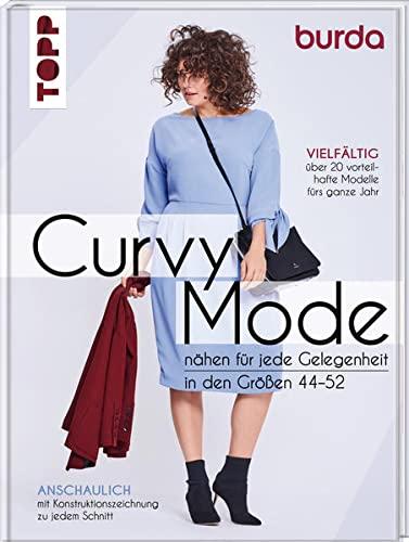 Curvy Mode: Nähen für jede Gelegenheit, in den Größen 44-52. Vielfältig: über 20 vorteilhafte Modelle fürs ganze Jahr. Anschaulich: mit Konstruktionszeichnung zu jedem Schnitt