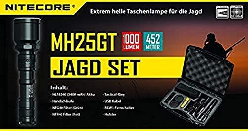 Nitecore – mh25gt Hunting Kit chasse Multitask Lanterne Batterie et accessoires de chasse