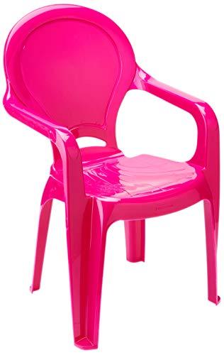 Cadeira Plástica Monobloco com Braços Infantil com Adesivo Catty Tramontina Rosa