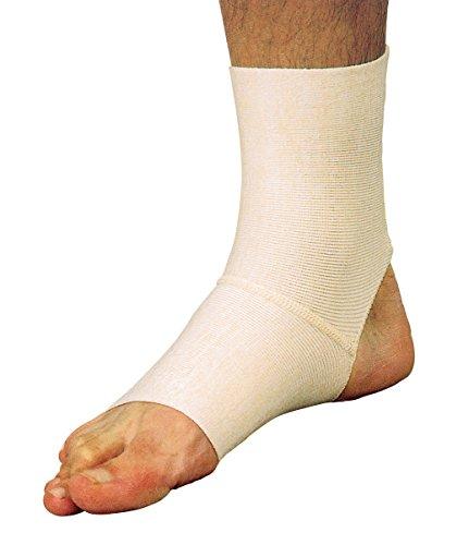 MANIFATTURA BERNINA Saniform 2035 (Taglia 2) - cavigliera Ortopedica Elastica con Tallone Aperto tutore Caviglia Fascia Piede
