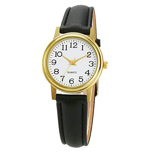 Women Leather Watch for Small Wrists, Simple Casual Wrist Watch for Women Ladies, Female Watches with Arabic Numerals