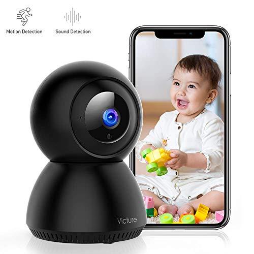 Victure 1080P FHD WLAN IP Kamera, Baby/Haustier/Zuhause Überwachungskamera mit Bewegungserkennung, Nachtsicht, Zwei Wege Audio