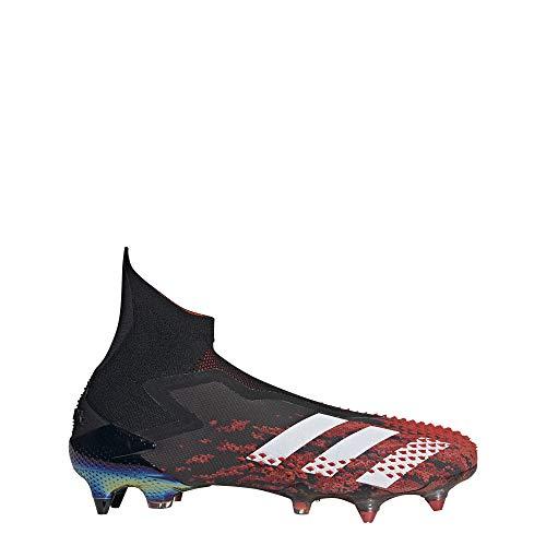 adidas Predator Mutator 20+ SG, Scarpe da Calcio Unisex-Adulto, Cblack/Ftwwht/Actred, 40 2/3 EU