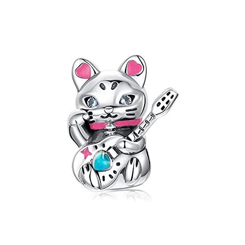LISHOU Authentische 925 Sterling Silber Mechanische Kaninchen Spinne Fortune Cat Charms Cyberpunk Stil Charms Spacer DIY Schmuck Machen D1