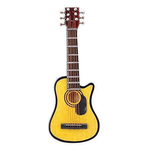 Miniatuur-gitaar koelkastmagneet, basswood cutaway gitaar model koelkast sticker bericht magneet voor kantoor, kalender, airconditioning, whiteboard