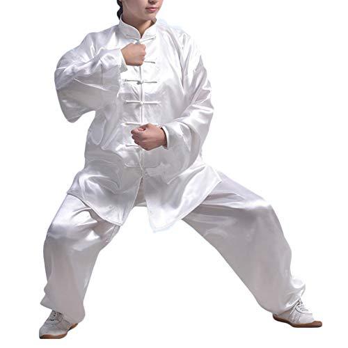 DianshaoA Unisex Seda del Imitación Sur Uniforme de Kung Fu Trajes Conjunto para Tai Chi Qi Gong
