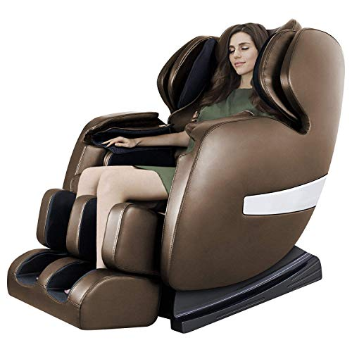 Massage Chair by OOTORI, Deluxe S-Track Recliner with 3D Robot Hand, Zero Gravity Full Body Air Massage, with Stretch Heating Vibrating Function (Coffee)