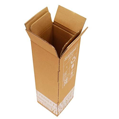 Flaschenversandkarton 1 Flasche Weinkarton inkl. Einlage Wein Sekt PTZ DHL zertifiziert UPS 1er Flaschenkarton Weinversandkarton Hermes DPD Systema Cargo (5)
