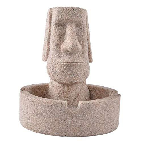 Zyh-hyz Osterinsel Statue, Kreative Aschenbecher Moai Man Sandstein chilenische Weinlesefest kreative Dekoration
