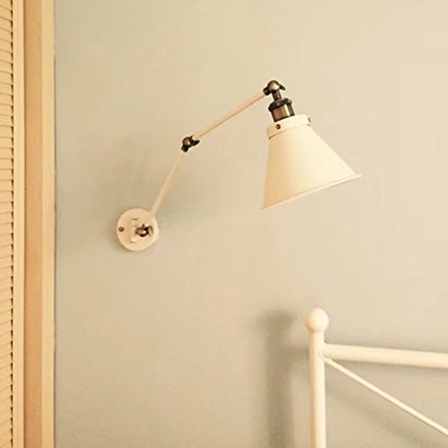 Modern Creative Wall Lamp Adjustable Swing Arm Wall Light White Indoor Wall Sconces