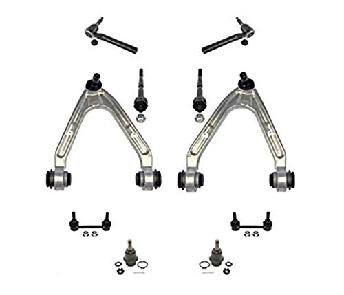 2007-2010 Hummer H3 10 Piece Chassis Kit Upper Arms Lower Ball Joints Tie Rod Sway Bar Links