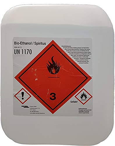Brennspiritus Spiritus geruchsfrei Premium AHK Bioalkohol 10 Liter Made in Germany