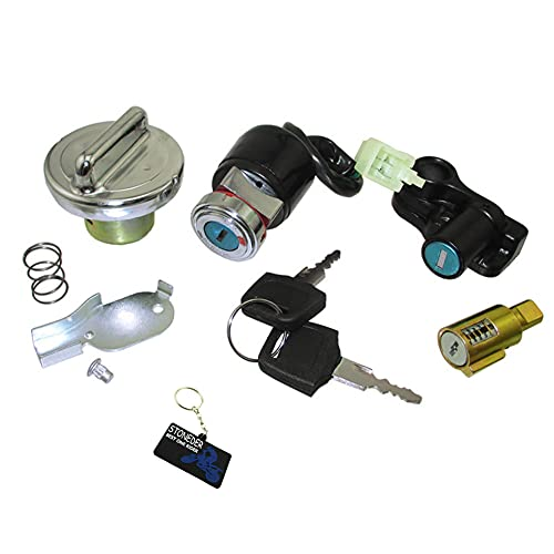 STONEDER Bouchon de réservoir avec interrupteur à clé 12 V pour Dax Skyteam 50 cc 125 cc ST50 ST125