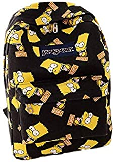 حقيبة كتف مزدوجة برسومات سيمبسون كرتونية مطبوعة حقيبة ظهر من القماش العصري للطلاب