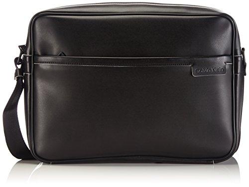 Calvin Klein Jeans Cruise Messenger J5EJ500476 Herren Umhängetaschen 38x29x10 cm (B x H x T), Schwarz (Black/White 990)