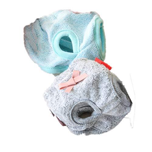 Fully 2X Hunde Baumwolle Hündin Läufigkeit Höschen Schutzhose Unterhose Unterwäsche Läufig Sanitär Windel Hygiene Schutzhöschen (S: Hüftumfang: 20cm/7.87