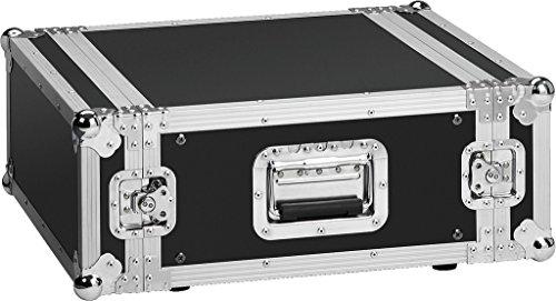 MONACOR MR-404 flightcase, aluminium profielranden, verchroomde bollen, verstevigingshoek en armaturen zwart