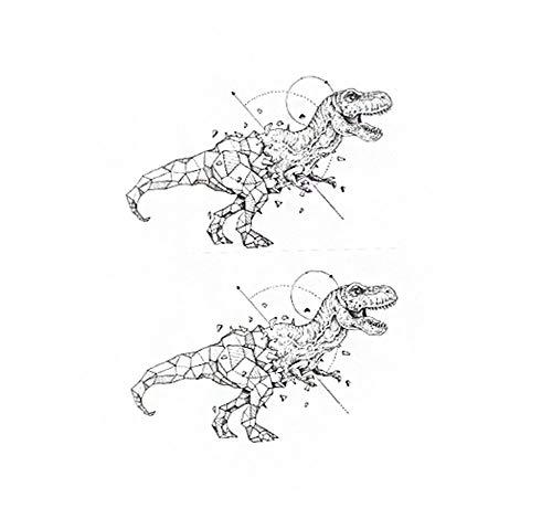 5 feuilles autocollants de tatouage temporaires de dinosaures frais pour la fête d'Halloween Cosplay Costume