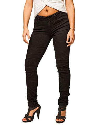 Buena Vista Damen Jeans Hose Italy Black Stretch Twill (M)