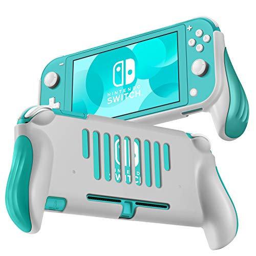 TNP Pro Grip Case for Nintendo Switch Lite Protective Shell Cover (Blue) Vented Comfort Enhance Ergonomic Grips, Lightweight, Slim, Scratch & Shock Protector Nintendo Switch Lite Accessories