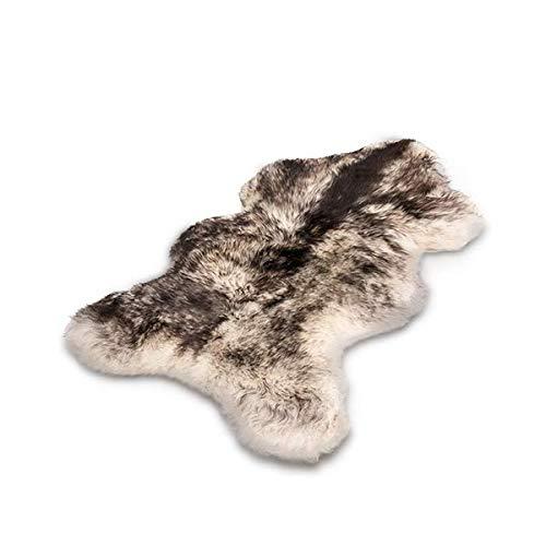 Schafshaut Store: 100% Bio Schaffell/Lammfell. Weich und Flauschig Ideal für das Wohnzimmer, unter dem Kamin, Schlafzimmer. (Schwarzes Haar, XL: 110-120 cm)