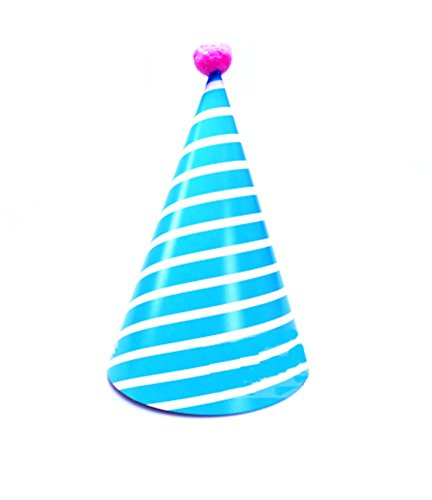 Fournitures 8Pcs D'anniversaire D'enfants Hat Blue Party Stripe Party Hat