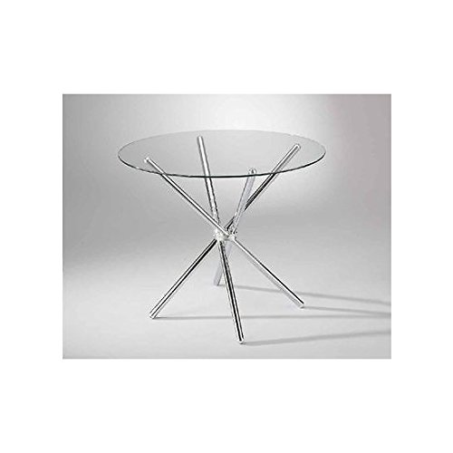 Tavoli Rotondi In Vetro Cristallo.Tavolo Vetro Rotondo Amazon It