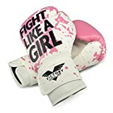Victory Martial Arts Women's Cardio Kickboxing Boxing Gloves/Punching Bag Gloves (8 oz, Fight Girl)