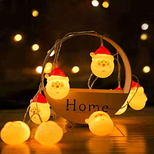 Akiimy 5ft Christmas Santa Claus String Lights 10 Led Lights Colorful Xmas Decor Light, 10 LEDs Santa Claus String Lights for Christmas Tree Decoration Home Garden Indoor Outdoor Decor (5ft) 6