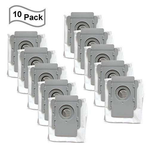 FATATP 10 Pack Vacuum Bags for iRobot Roomba i & s Series i7(7150) i7+ i7Plus(7550) s9(9150) s9+ s9 Plus (9550, 955020) Robot Vacuum Cleaner with Clean Base Automatic Dirt Disposal Bags Bags Canister Dining Features Kitchen