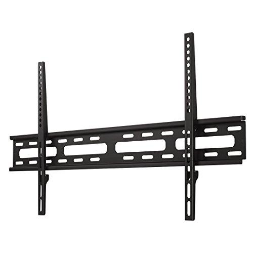 Hama TV Wandhalterung für Fernseher bis 75 Zoll (sehr flacher Wandhalter, VESA 50x50 - 800x400, für Flachbildfernseher bis 60 kg, mit Wasserwaage) Fernsehhalterung, schwarz