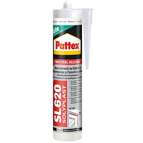 Pattex 3283015 SL 620 Serramenti ed Edilizia, Resiste alle muffe, agli agenti atmosferici, ad acidi e basi diluiti, ai raggi UV, Certificato ISO 11600