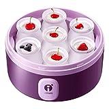 STRAW Máquina de Yogurt, Máquina de Yogurt de Vida equilibrada, Yogurt Griego, Máquina automática de Hacer Yogurt 7 Frascos griegos de Vidrio Personalizar a su Gusto