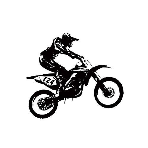 jieGorge 53cm * 60cmMotorbike Motocross Pegatinas de Pared Art Room Calcomanías extraíbles, Decoración del hogar, para el día de Pascua (Negro)